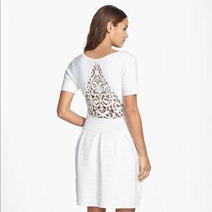 Crochet Back Fit & Flare Dress
